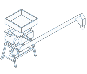 ROLLER MILL-ROLLER GRINDER WITH INCORPORATED SCREW CONVEYOR